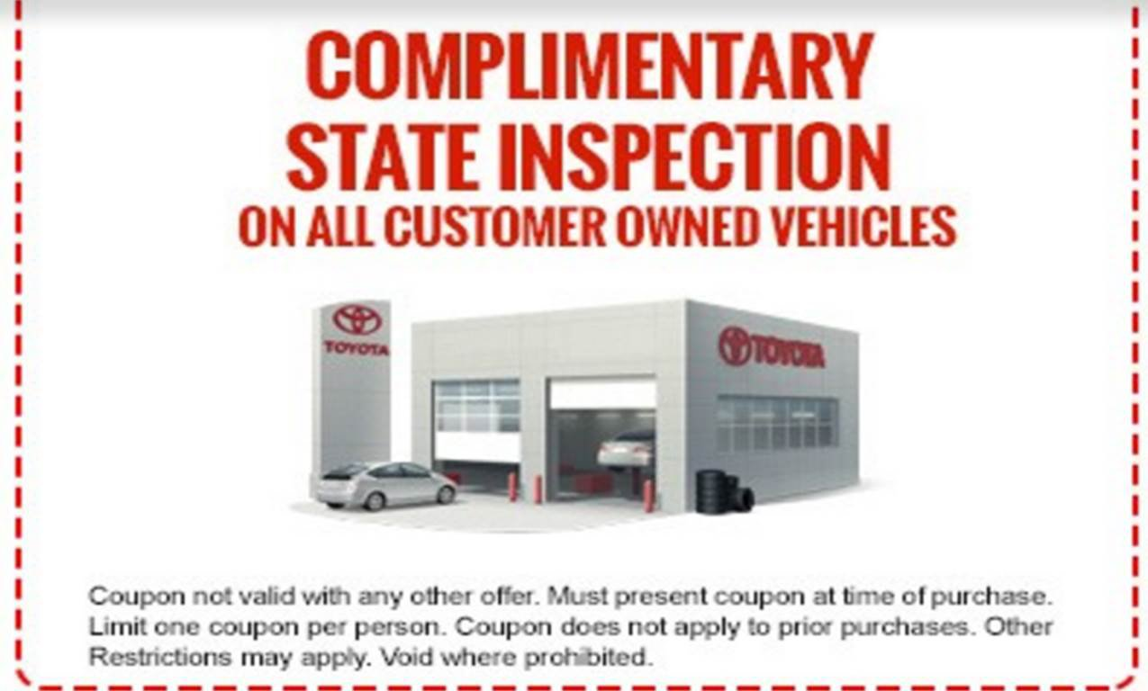 Aubrey Alexander Toyota >> Aubrey Alexander Toyota Complimentary State Inspection Northeast